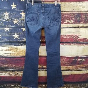 7 FOR ALL MANKIND STRETCH BOOTCUT A POCKET JEANS